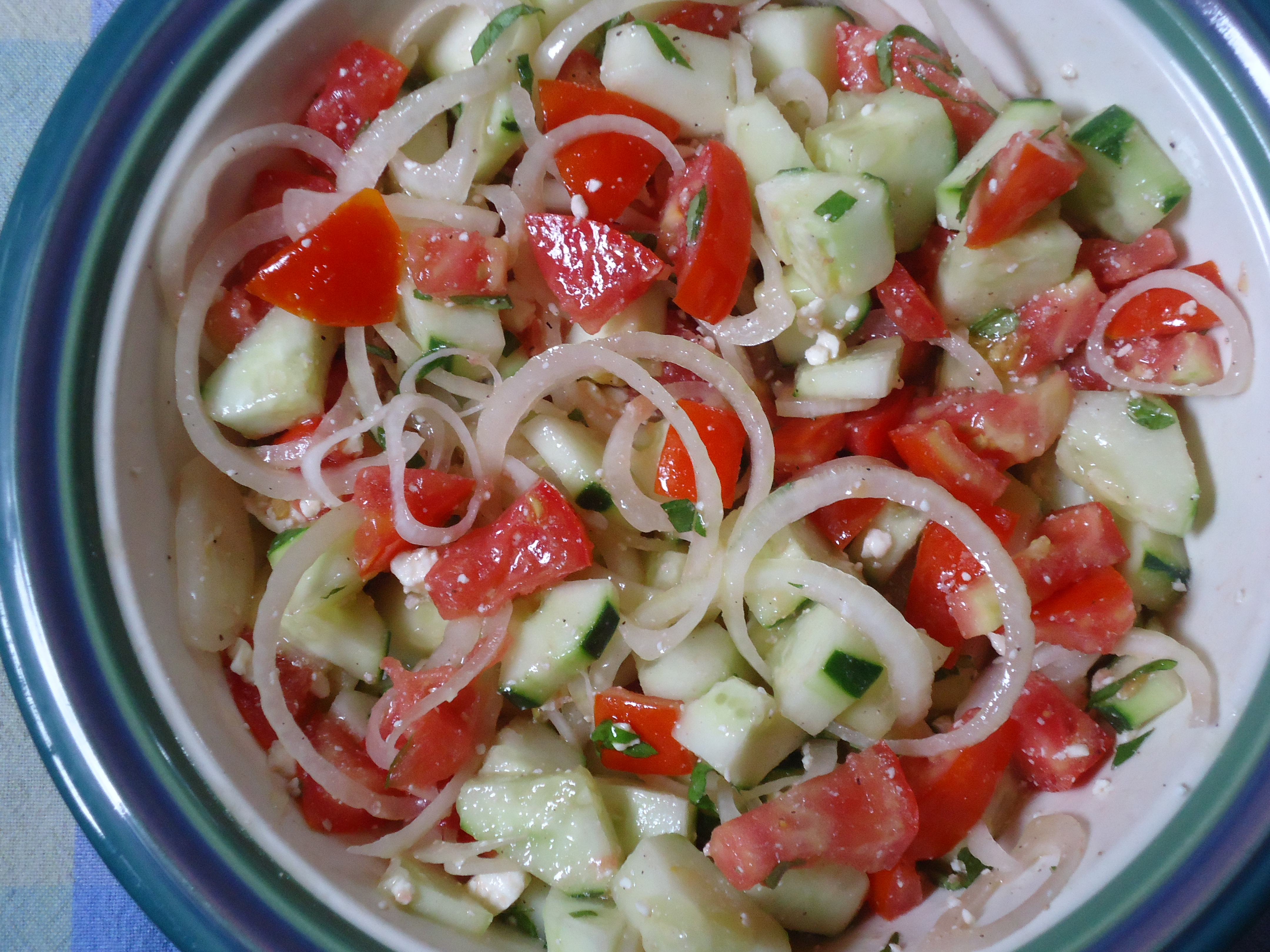 Tomato, Cucumber, and Onion Salad | The Critics In My Kitchen